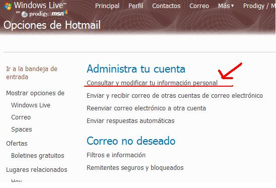 clave hotmail