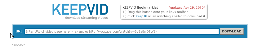 KeepVid descarga videos de youtube