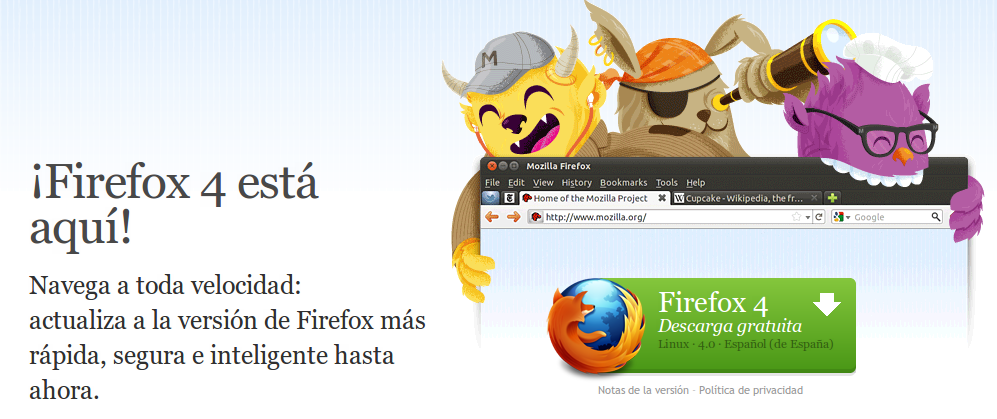 Descarga firefox 4 Ya!!