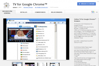 tv for chrome