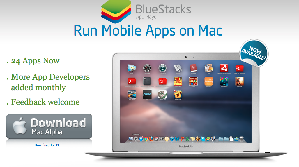 Aplicaciones de android en tu pc y mac con BlueStacks